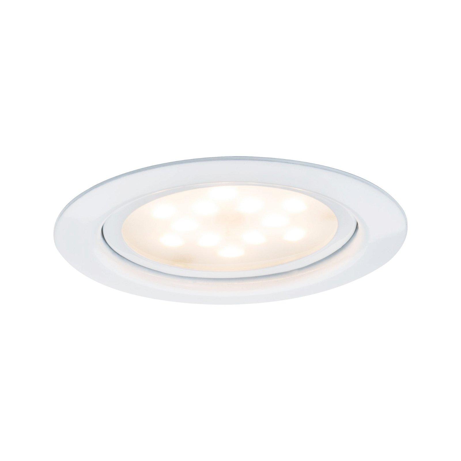 LED Möbeleinbauleuchten Micro Line 3er-Set rund 65mm 3x4,5W 3x305lm 230V 2700K Weiß
