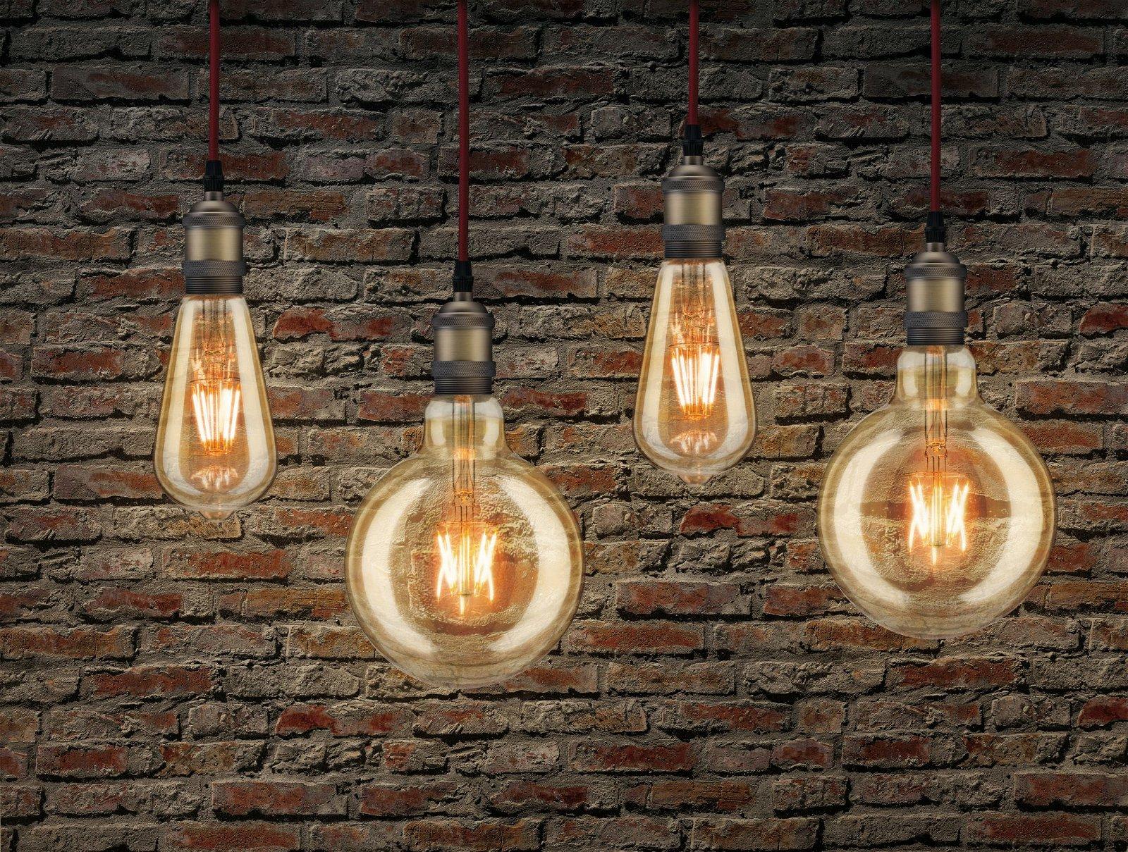 1879 Ampoules LED Rustika E27 230V 500lm 6W 1700K Doré