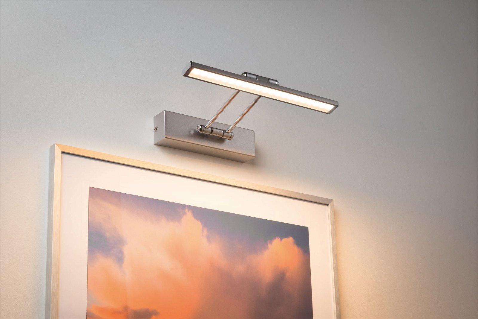 Galeria LED Bilderleuchte Beam 2700K 630lm 230V 5W Nickel gebürstet/Chrom
