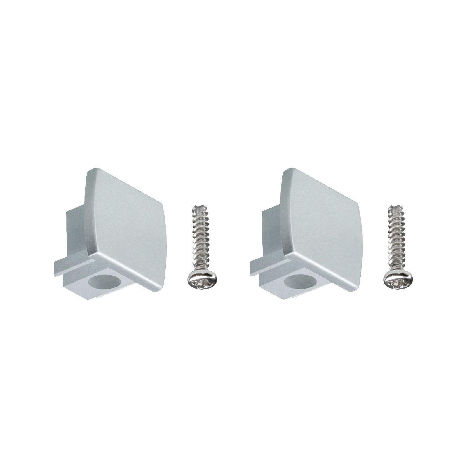 URail Verbindingen Set van 2 Eindkappen pak van 2 13x21mm Chroom mat