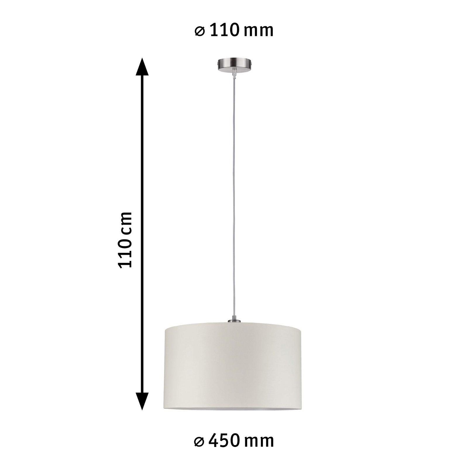 Pendelleuchte Tessa E27 max. 60W Creme/Eisen gebürstet