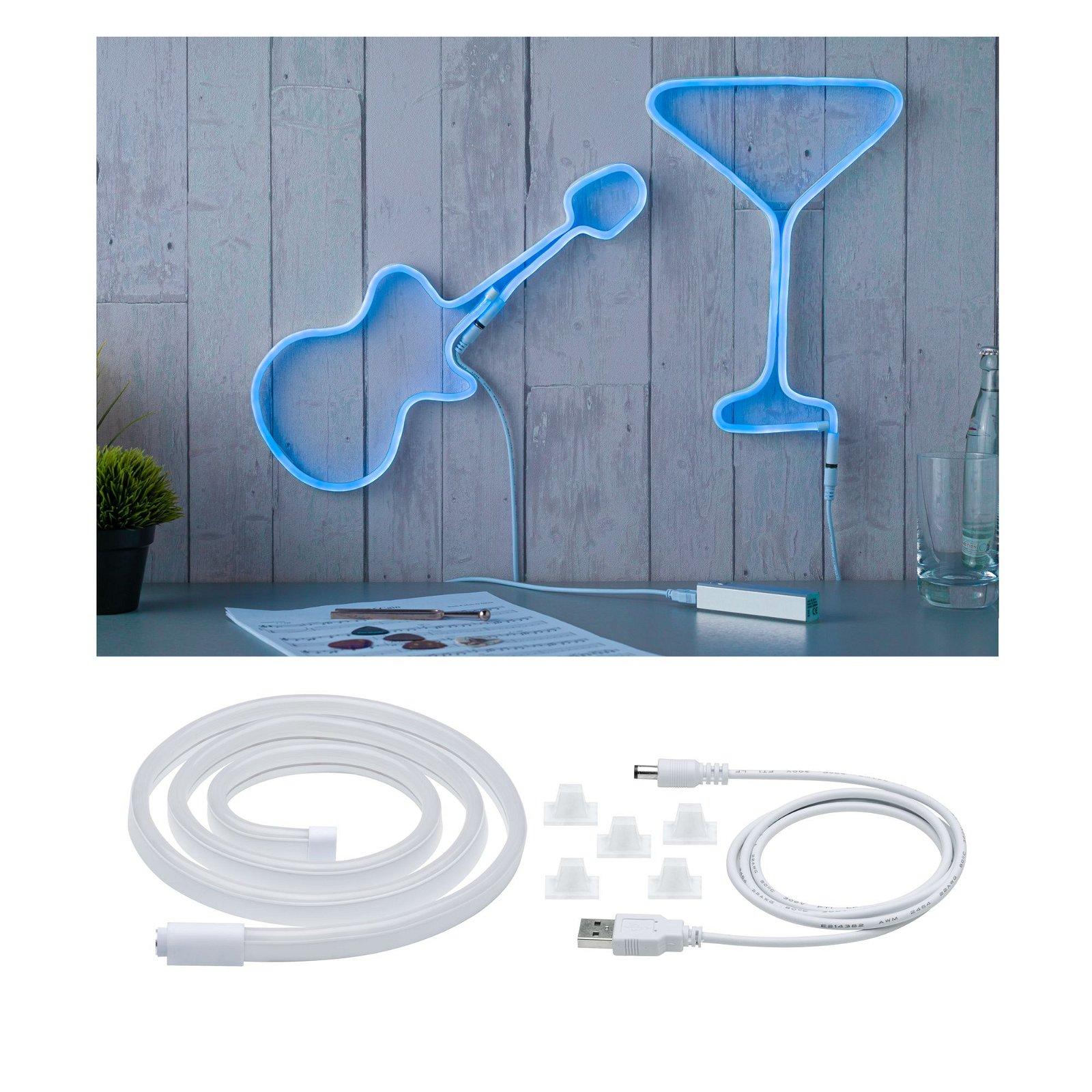 Strip USB LED Bleu 1m 4,5W 10lm