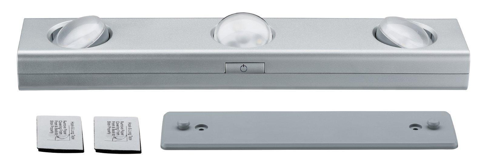 LED Unterschrankleuchte Jiggle 300x60mm 3x22lm 3000K Chrom matt