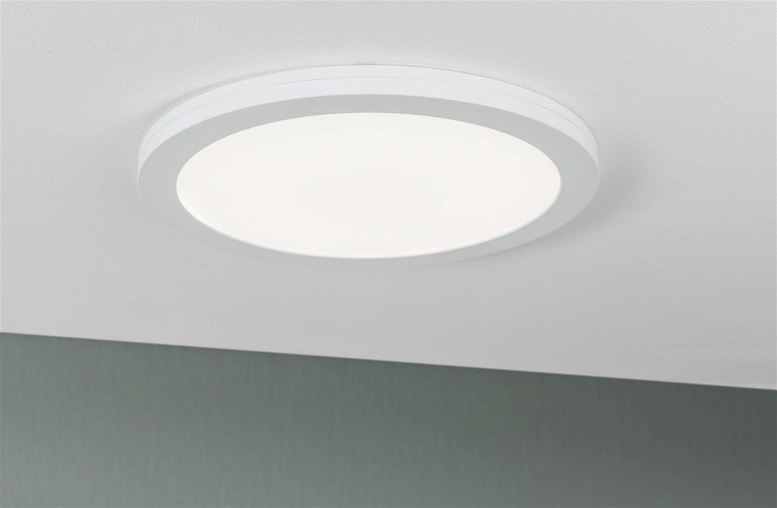 Panneaux encastrés LED 2in1 Cover-it rond 330mm 2460lm 4000K Blanc dépoli