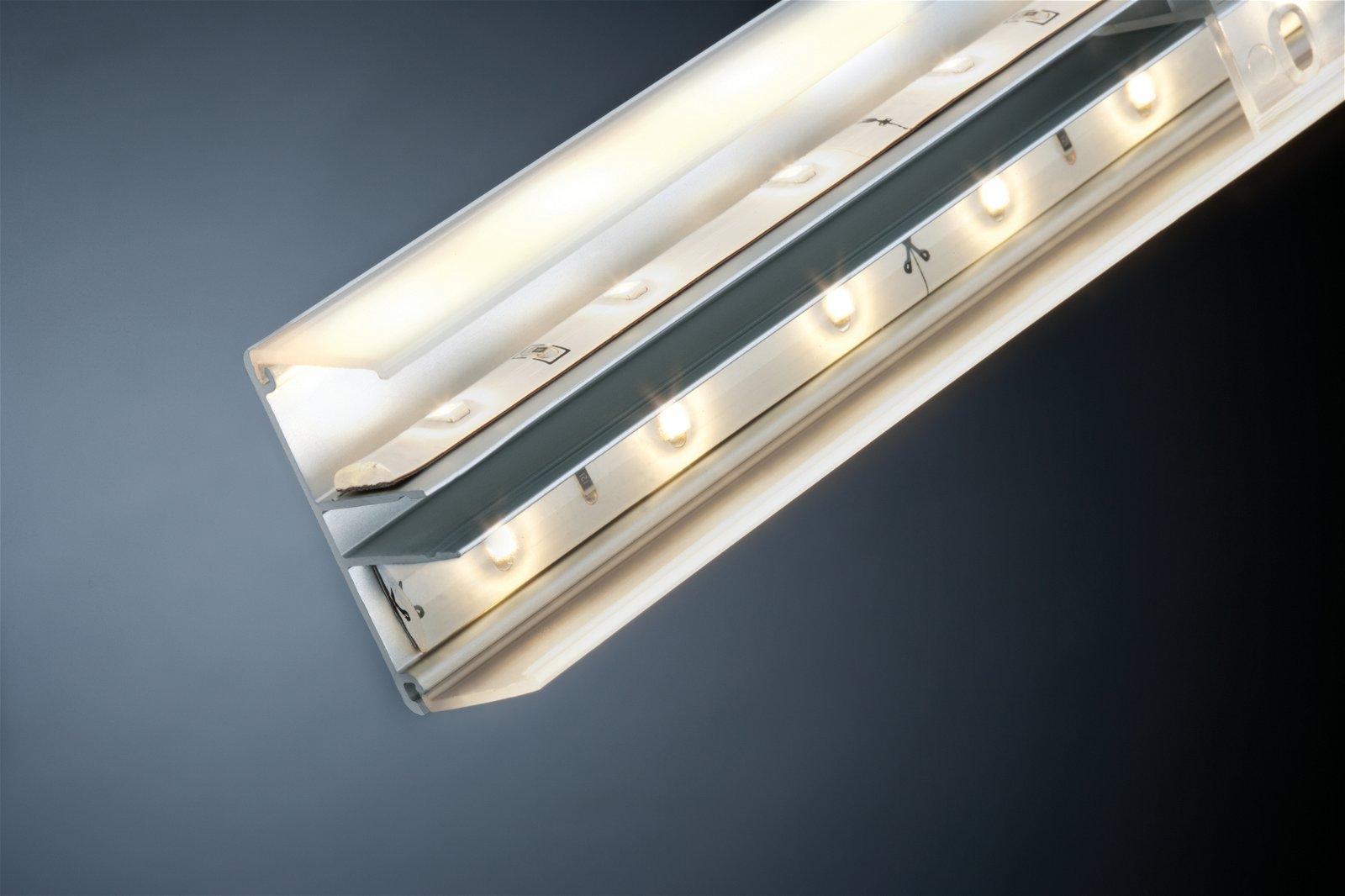 Profilé de strip LED Duo 1m Alu