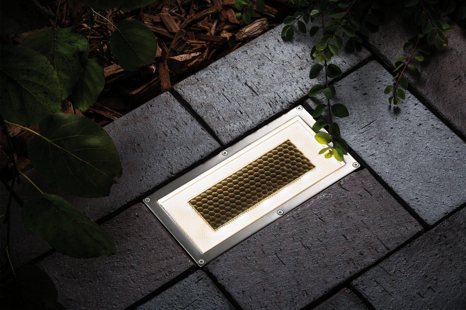 Solar LED-grondinbouwlamp Box IP67 2700K 7,5lm Edelstaal/Helder