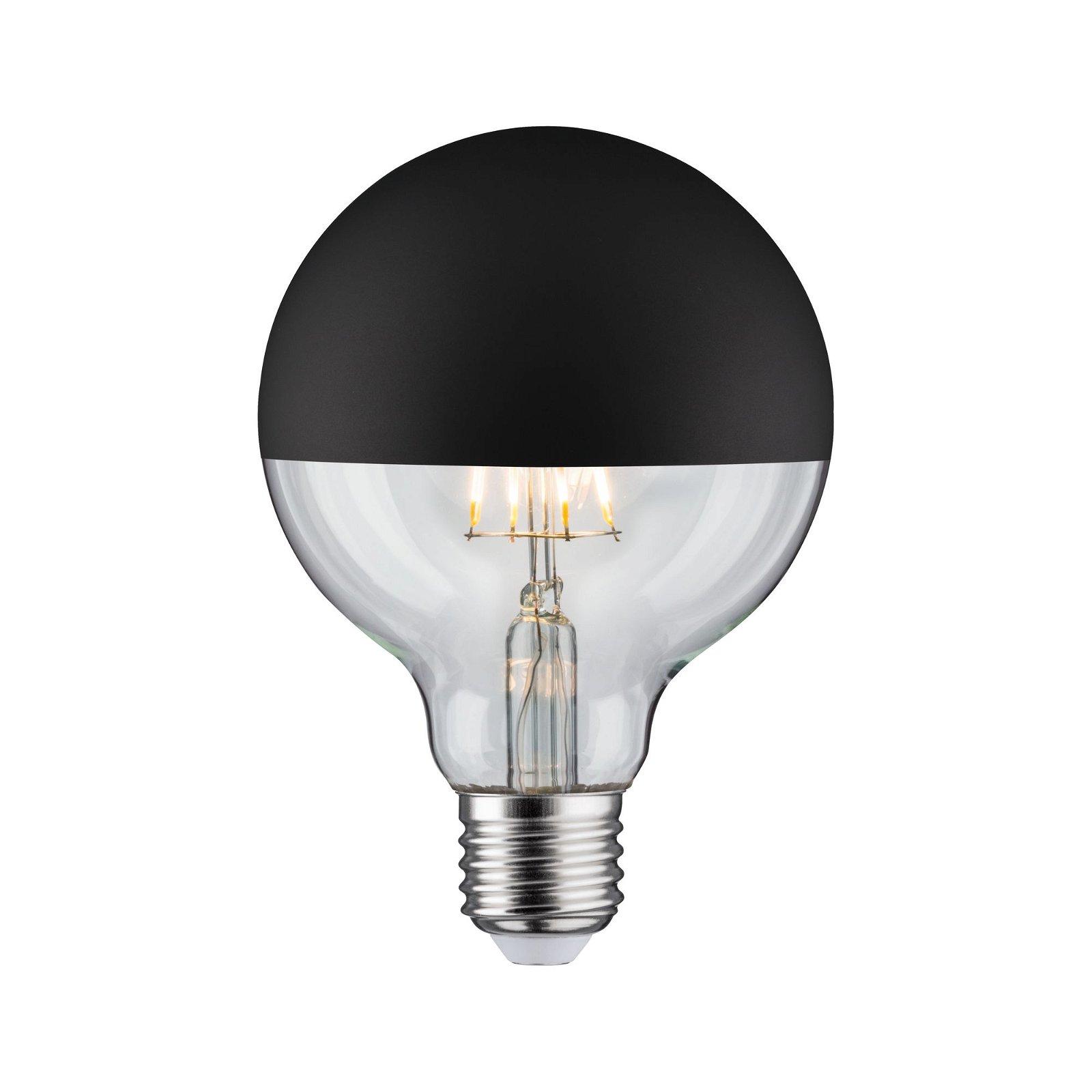 Modern Classic Edition LED Globe Kopspiegel E27 230V 600lm 6,5W 2700K Kopspiegel zwart mat