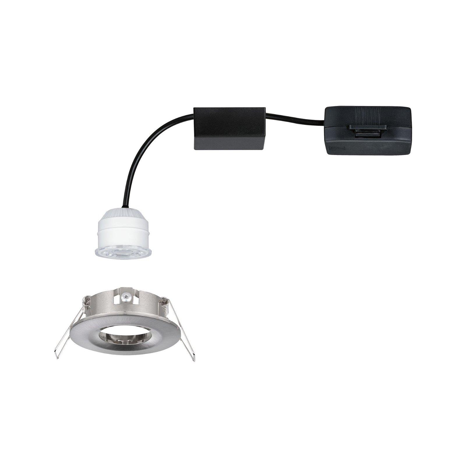 LED Einbauleuchte Nova Mini Coin Einzelleuchte starr IP44 rund 65mm Coin 4W 310lm 230V 2700K Eisen gebürstet