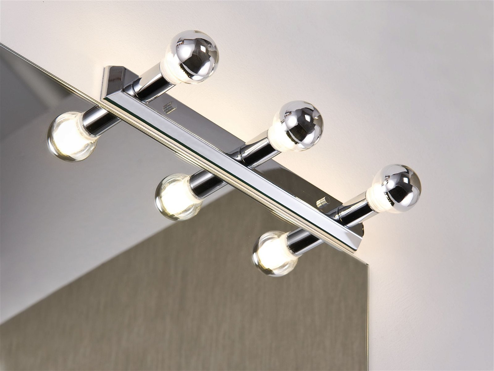 LED-spiegellamp Mirror Regula E14 230V max. 3x40W Chroom