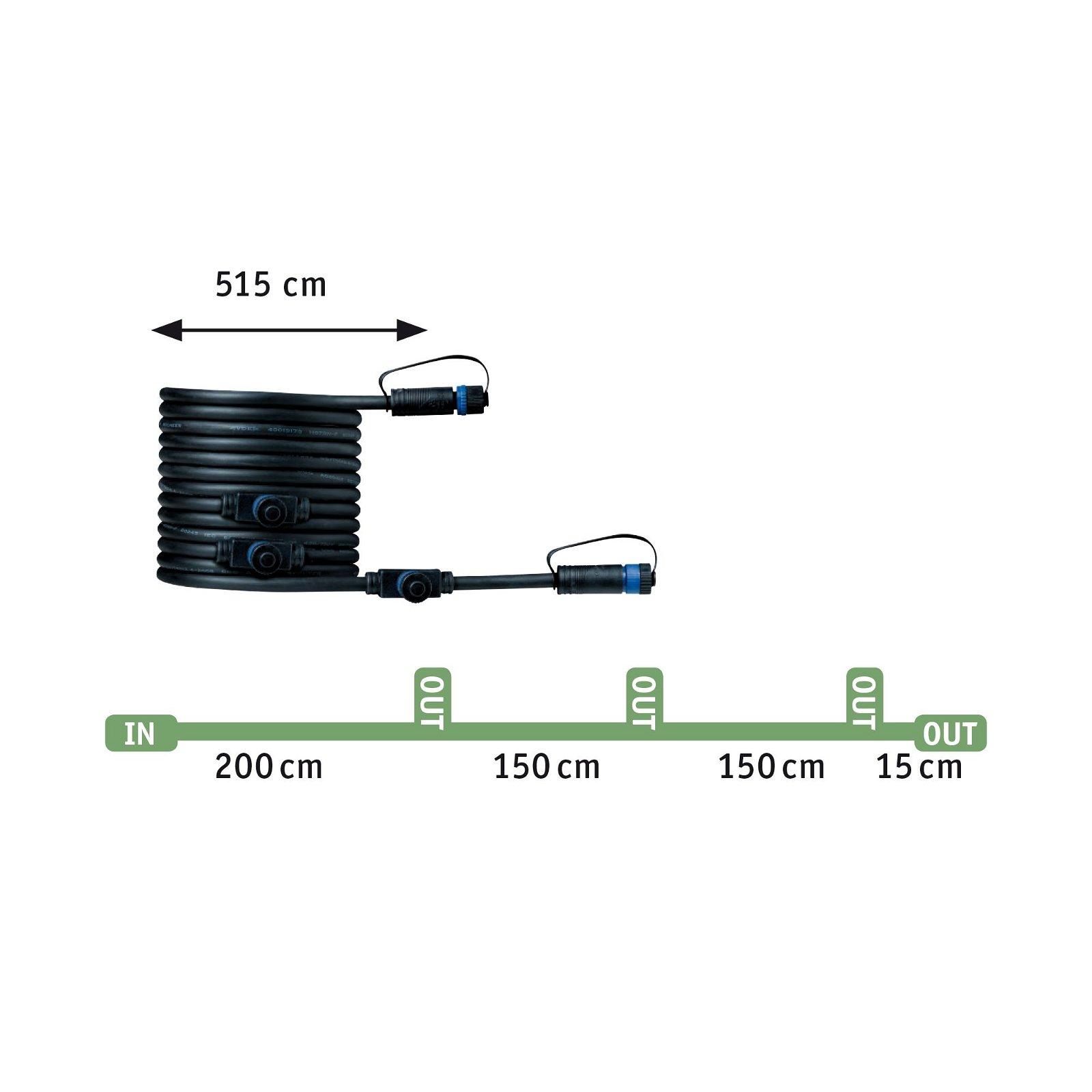 Plug & Shine LED Gartenstrahler Pike Basisset IP65 3000K 3x3,5W 21VA Anthrazit