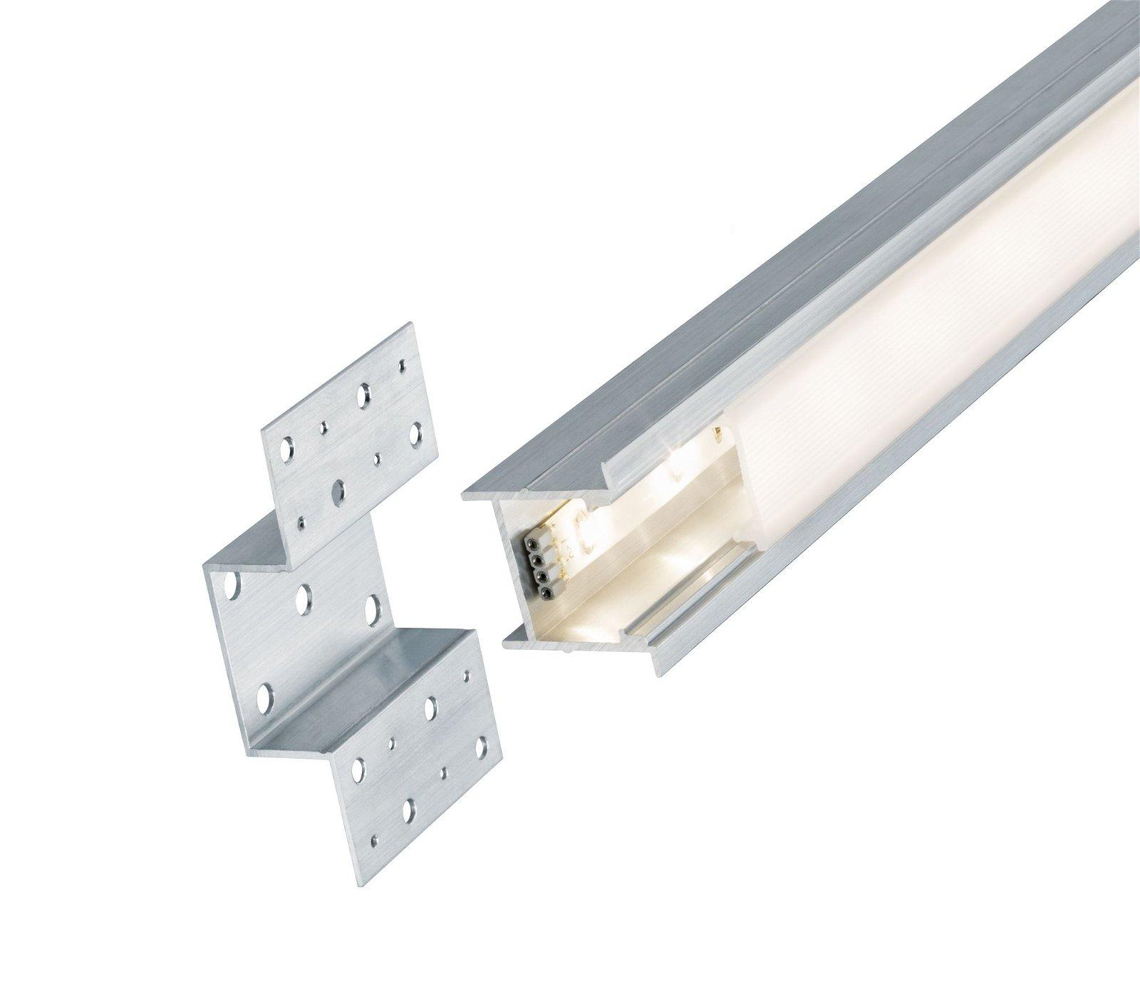 Profilé encastrable de strip LED Deep 1m Alu anodisé/Satiné