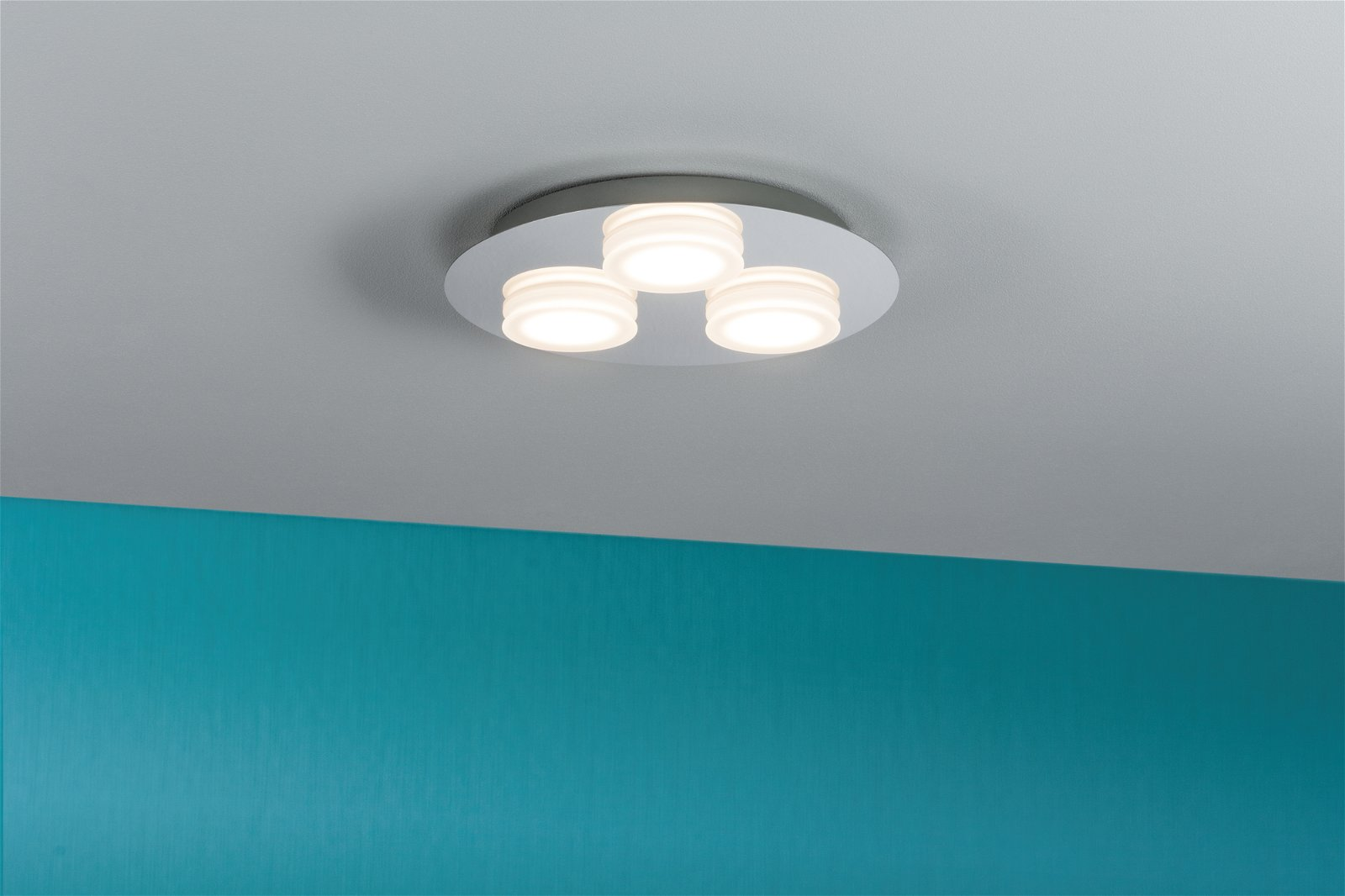 LED Deckenleuchte Doradus 3000K 3x420lm 230V 3x4,7W Chrom