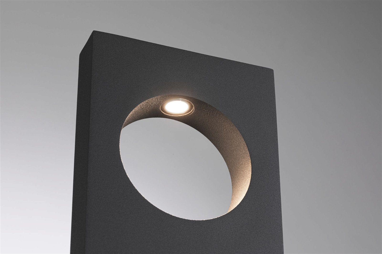 LED Pollerleuchte Ivo IP65 505mm 3000K 5,5W 530lm 230V Grau Aluminium