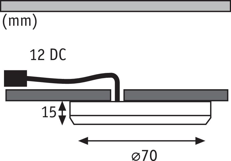 Meubelopbouwlamp LED Platy wit mat Set van 3 incl. LED-module 3 x 2,5 W