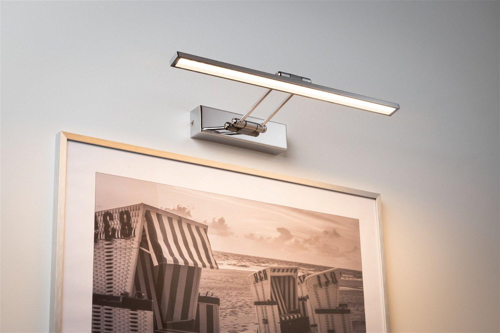 Galeria LED Bilderleuchte Beam 2700K 850lm 230V 7W Chrom