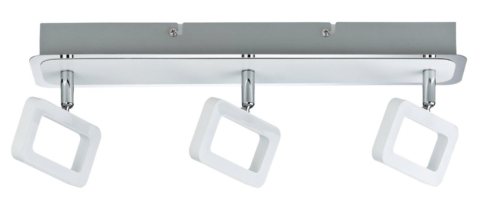 Deckenstrahler Frame 3000K 3x468lm 230V 3x4,5W Weiß matt/Chrom