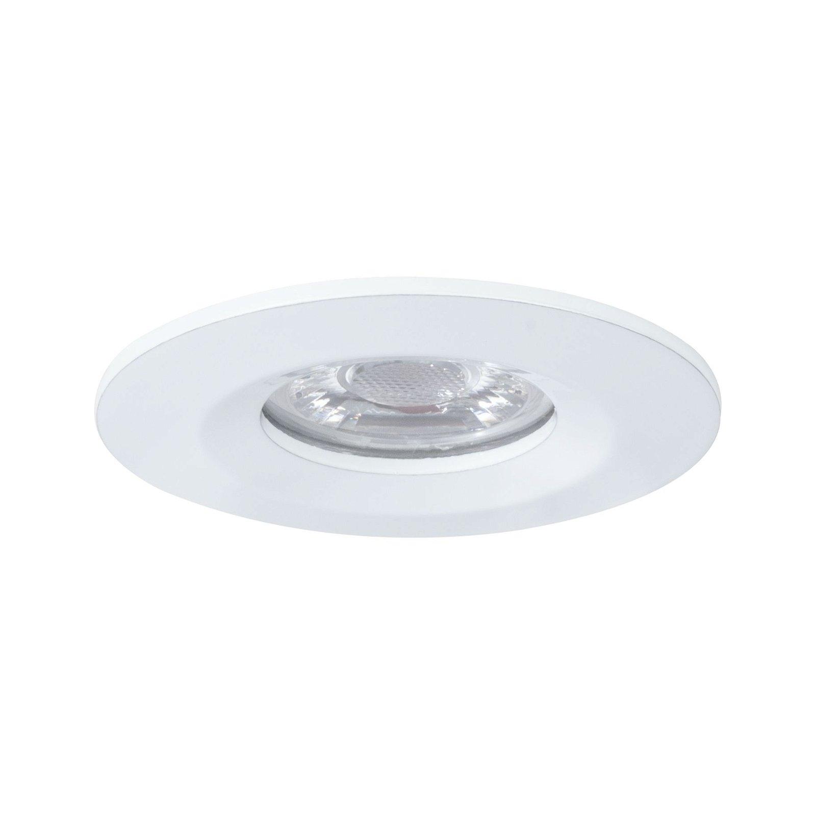 LED Einbauleuchte Nova Mini Coin Einzelleuchte starr IP44 rund 65mm Coin 4W 310lm 230V 2700K Weiß matt