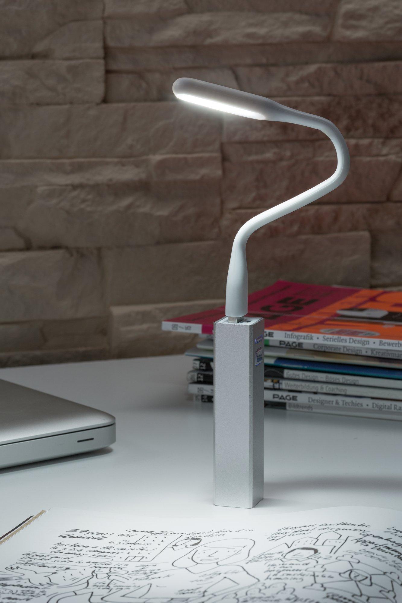 USB Leuchte 220x18mm 0,5W 50lm 6500K Weiß