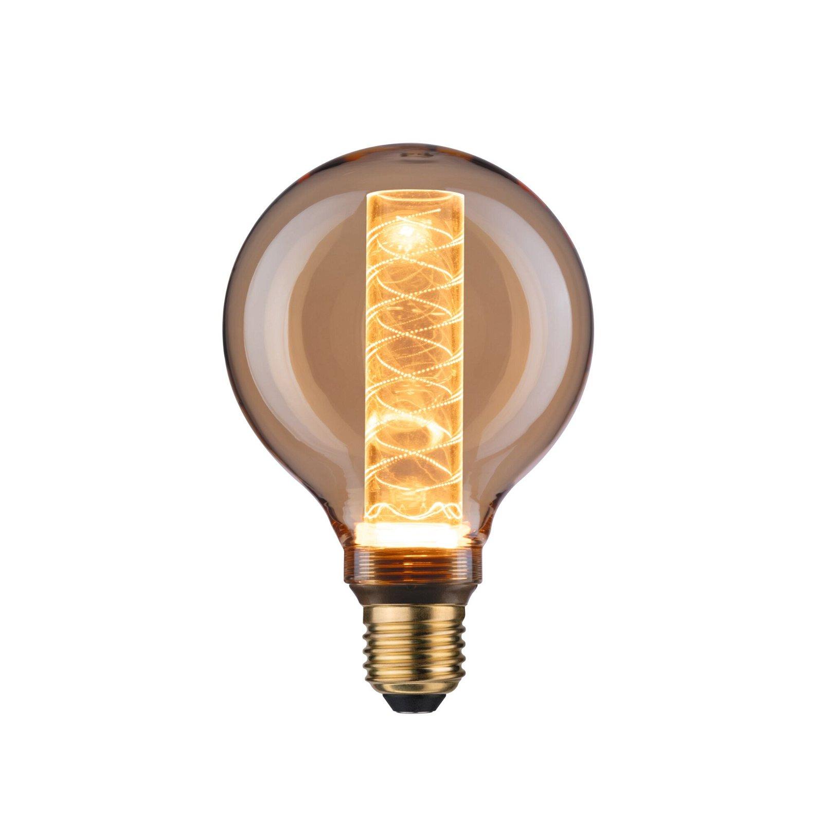Inner Glow Edition LED Globe Innenkolben Spiralmuster E27 230V 200lm 4W 1800K Gold
