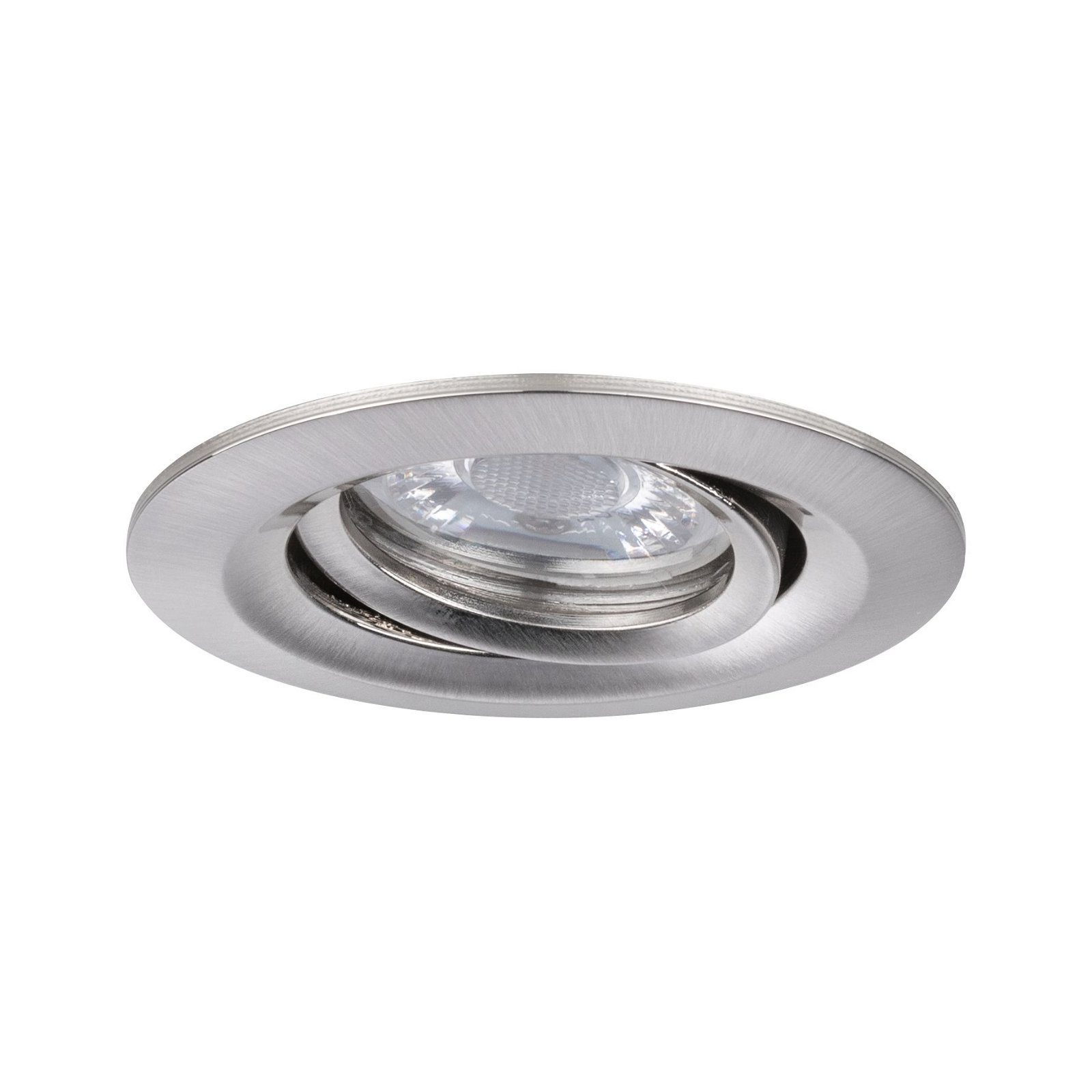 LED Einbauleuchte Nova Mini Coin Einzelleuchte schwenkbar rund 66mm 15° Coin 4W 310lm 230V 2700K Eisen gebürstet