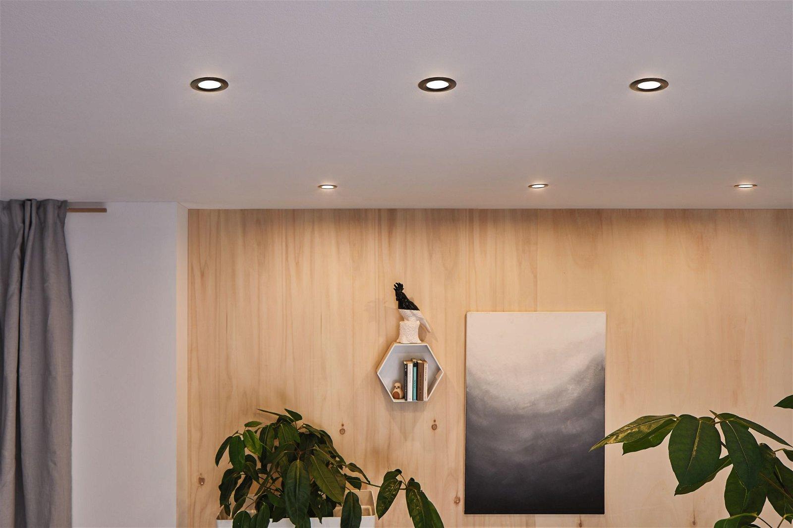 HomeSpa LED-inbouwlamp Calla Basisset zwenkbaar IP65 rond 90mm 3x6,5W 3x680lm 230V 4000K Zwart mat