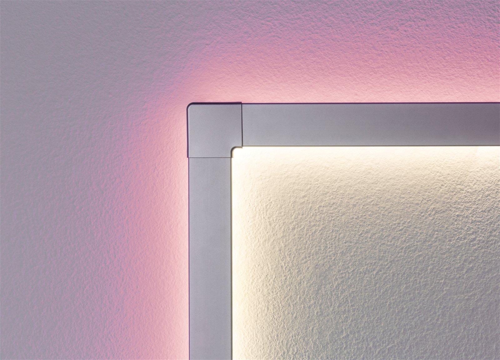 Profilé de strip LED Duo 90° Corner – Pack de 2 Alu mat