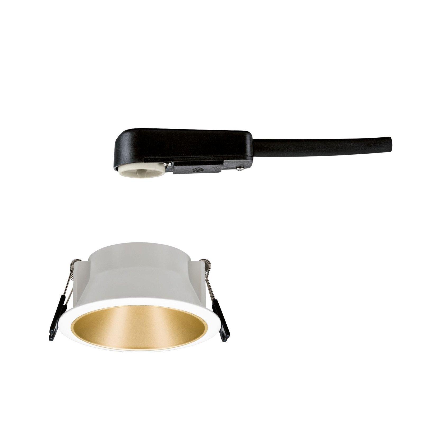 Spot encastré LED Cole rond 88mm GU10 max. 10W 230V Blanc dépoli/Doré