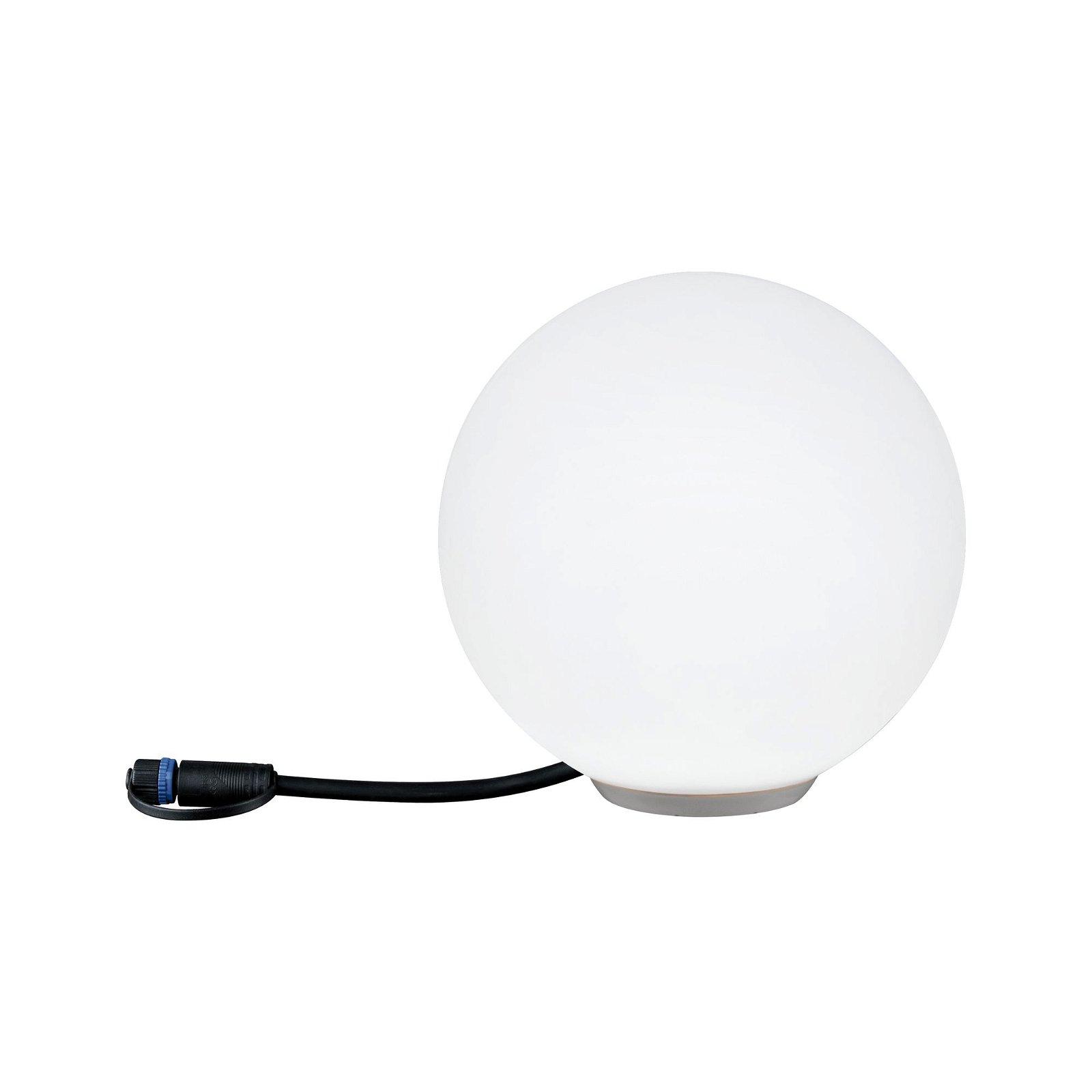 Plug & Shine Objet lumineux LED Smart Home Zigbee Globe 200mm IP65 RGBW 2,8W Blanc