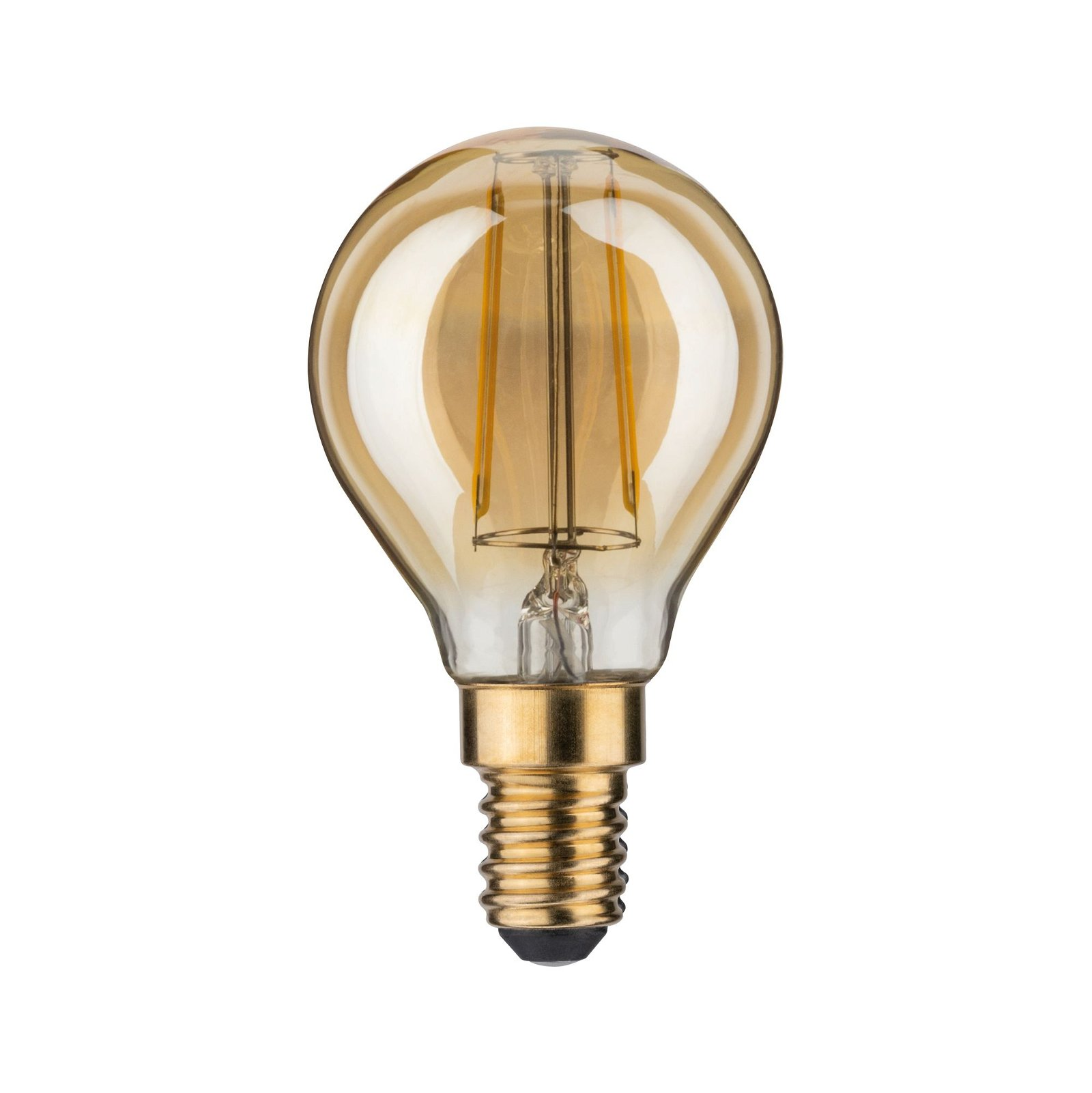 LED-kogellamp E14 230V 220lm 2,5W 2500K Goud