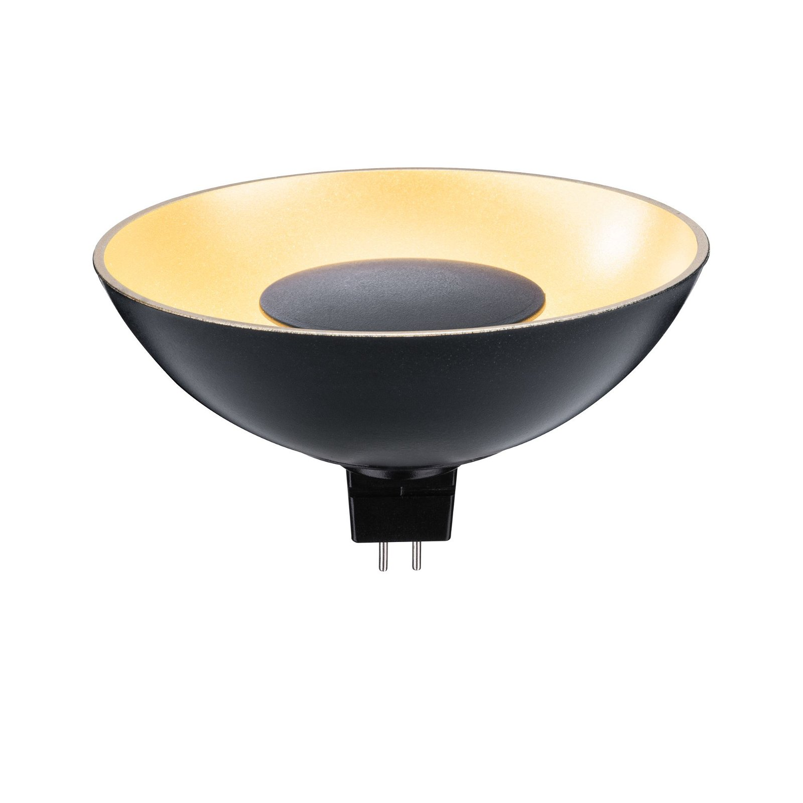 LED Reflektor GU5,3 12V 170lm 4,9W 1900K Schwarz/Gold