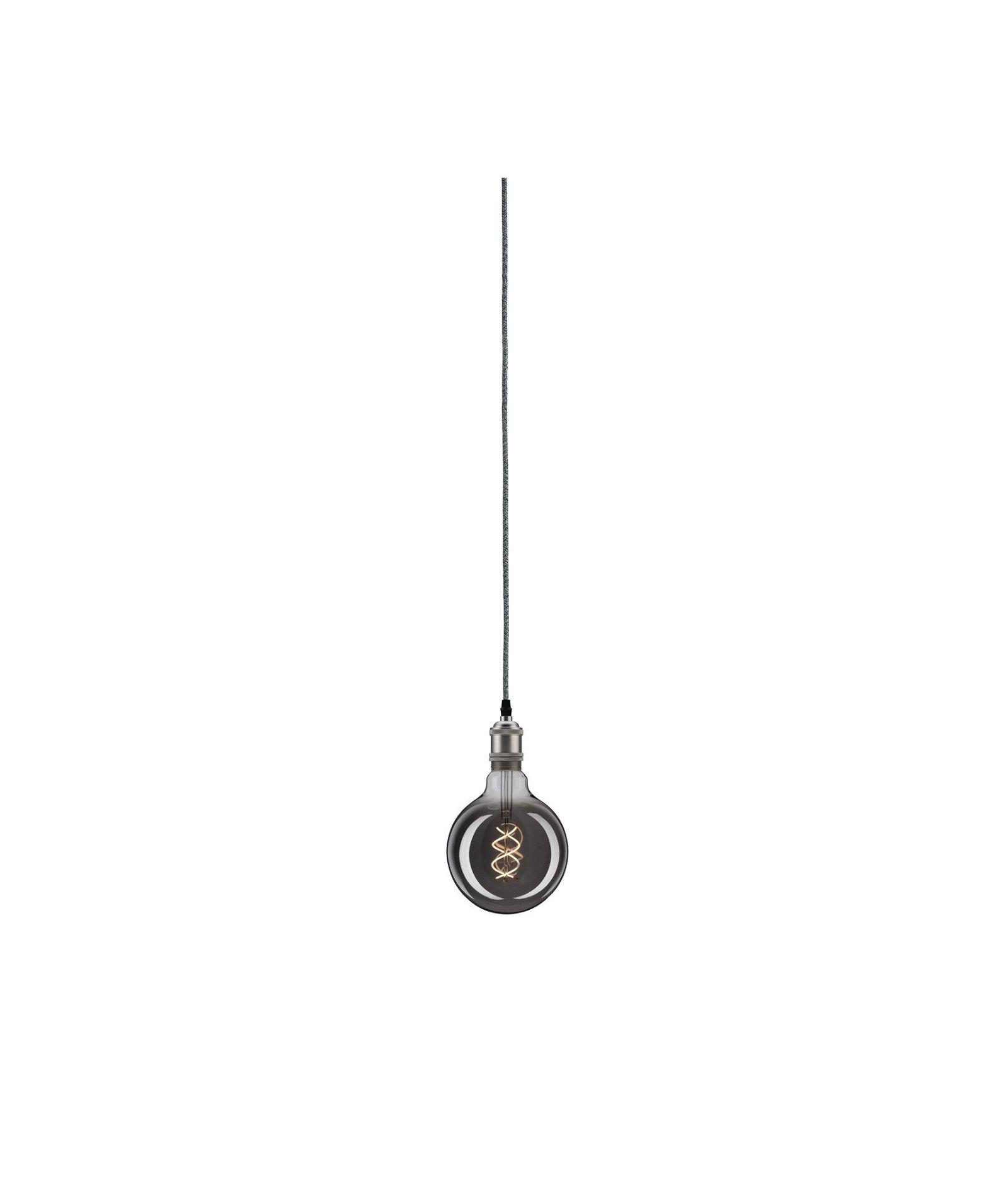Neordic Pendelleuchte Eldar inkl. Stecker E27 max. 20W Grau/Nickel Metall