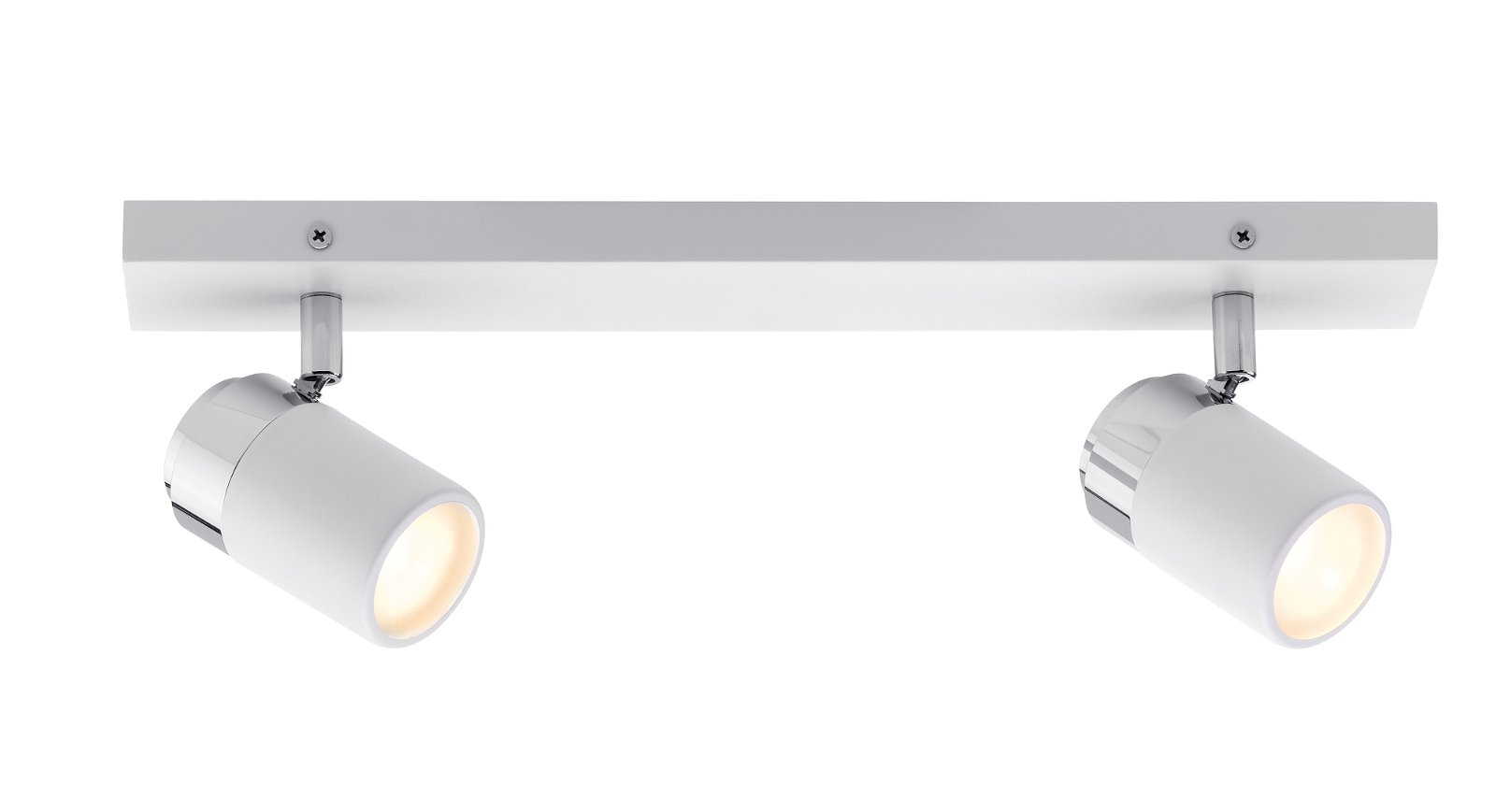 Spot de plafond Zyli IP44 GU10 230V max. 2x10W Blanc/Chrome