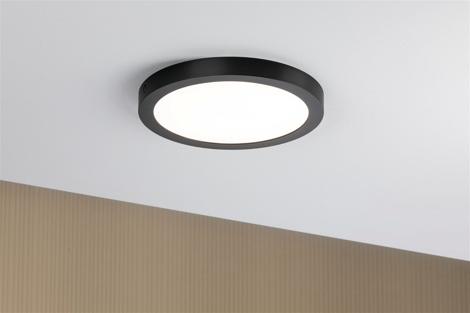 LED Panel Abia round 300mm 2700K Black matt