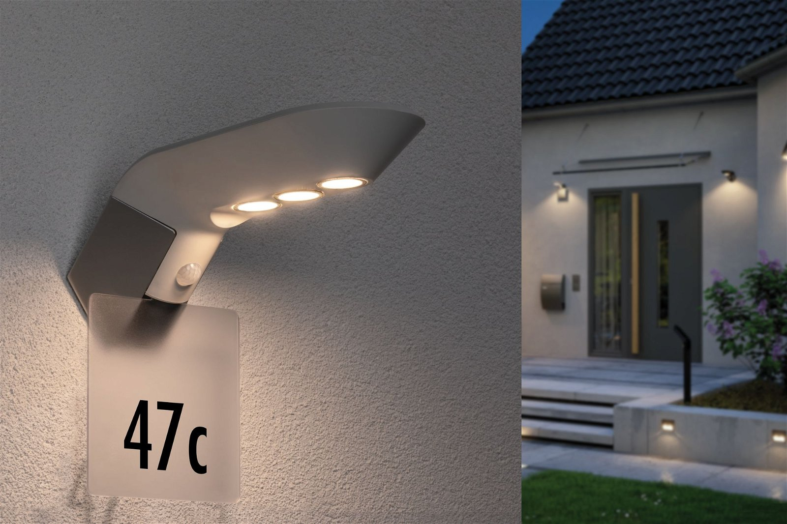 Solar LED Hausnummernleuchte Soley Bewegungsmelder Zubehör Transparent