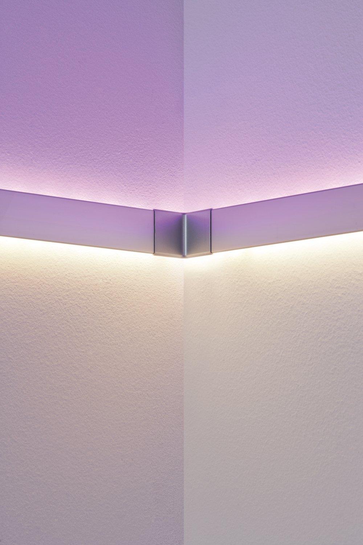 Profilé de strip LED Duo Inside Corner – Pack de 2 Alu mat