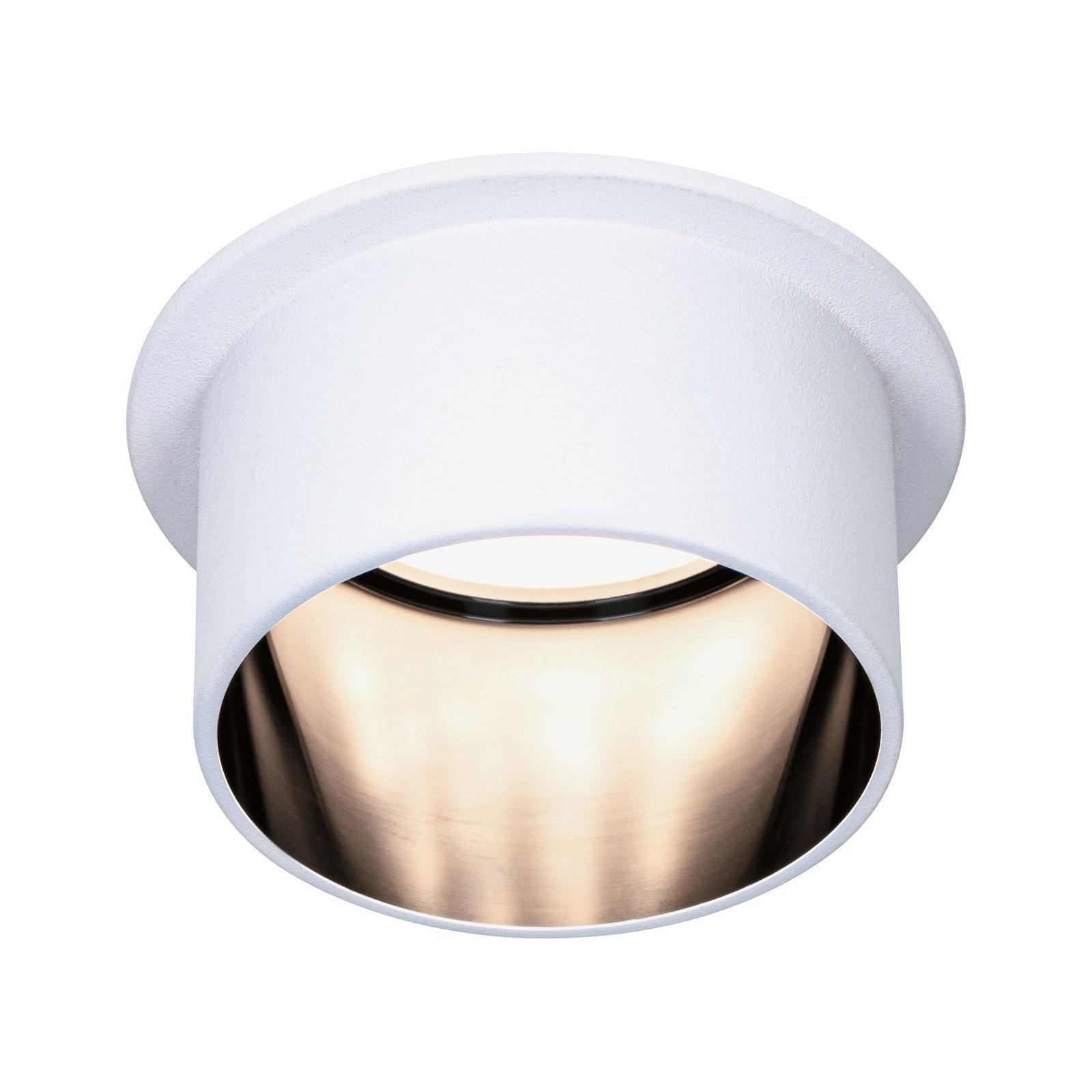 LED Einbauleuchte Gil IP44 rund 68mm Coin 6W 470lm 230V 2700K Weiß matt/Schwarz matt