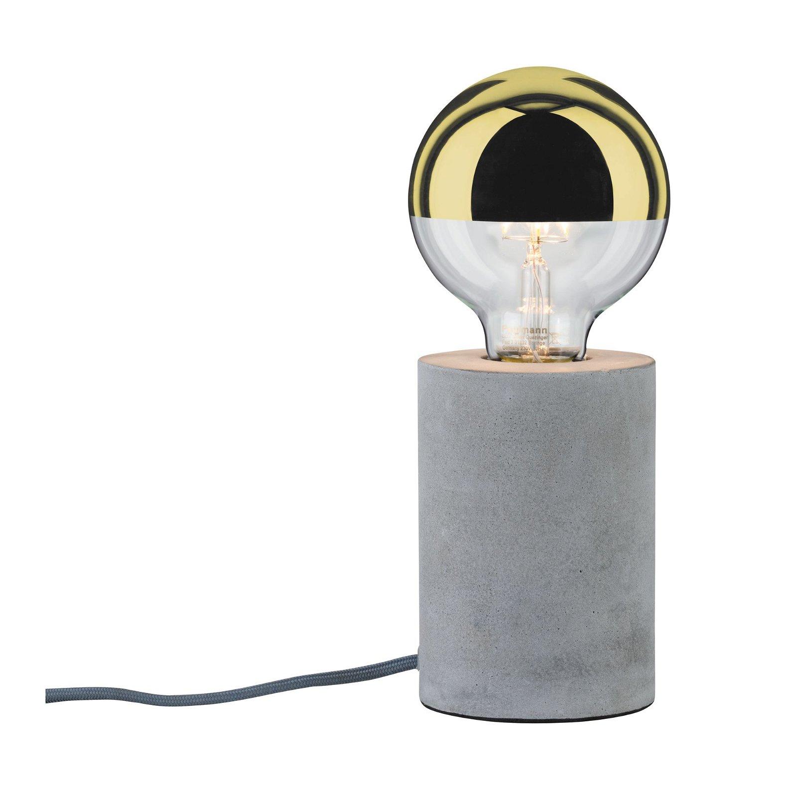 Neordic LED-tafellamp Mik E27 max. 20W Grijs Beton