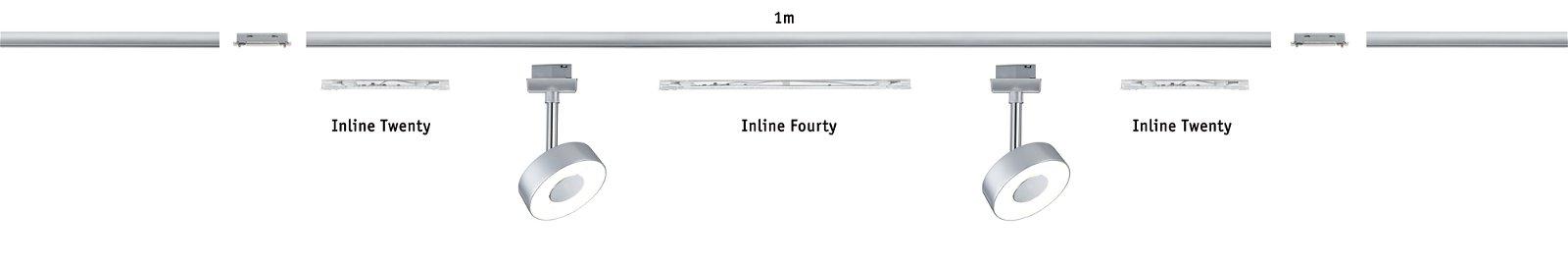 URail LED Spot Inline Ninety 5,2 W transparant 90cm
