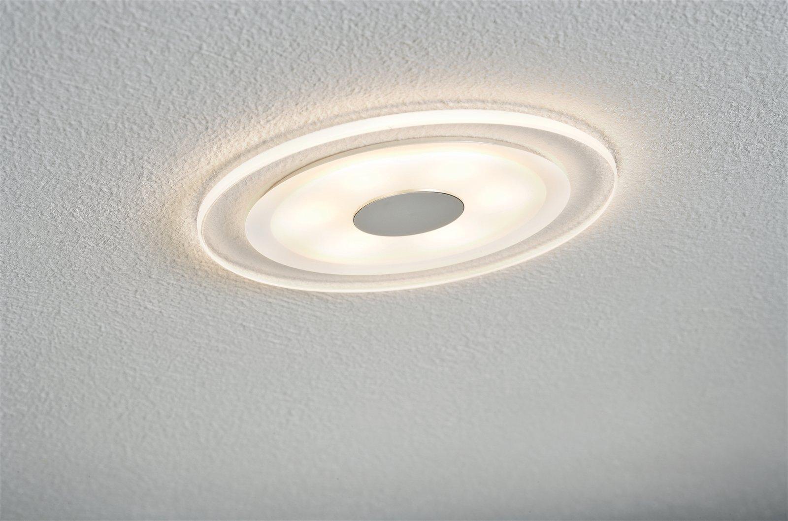 Premium Spot encastré LED Whirl Kit de base rond 150mm 3x6W 3x450lm 230V 3000K Alu tourné/Satiné
