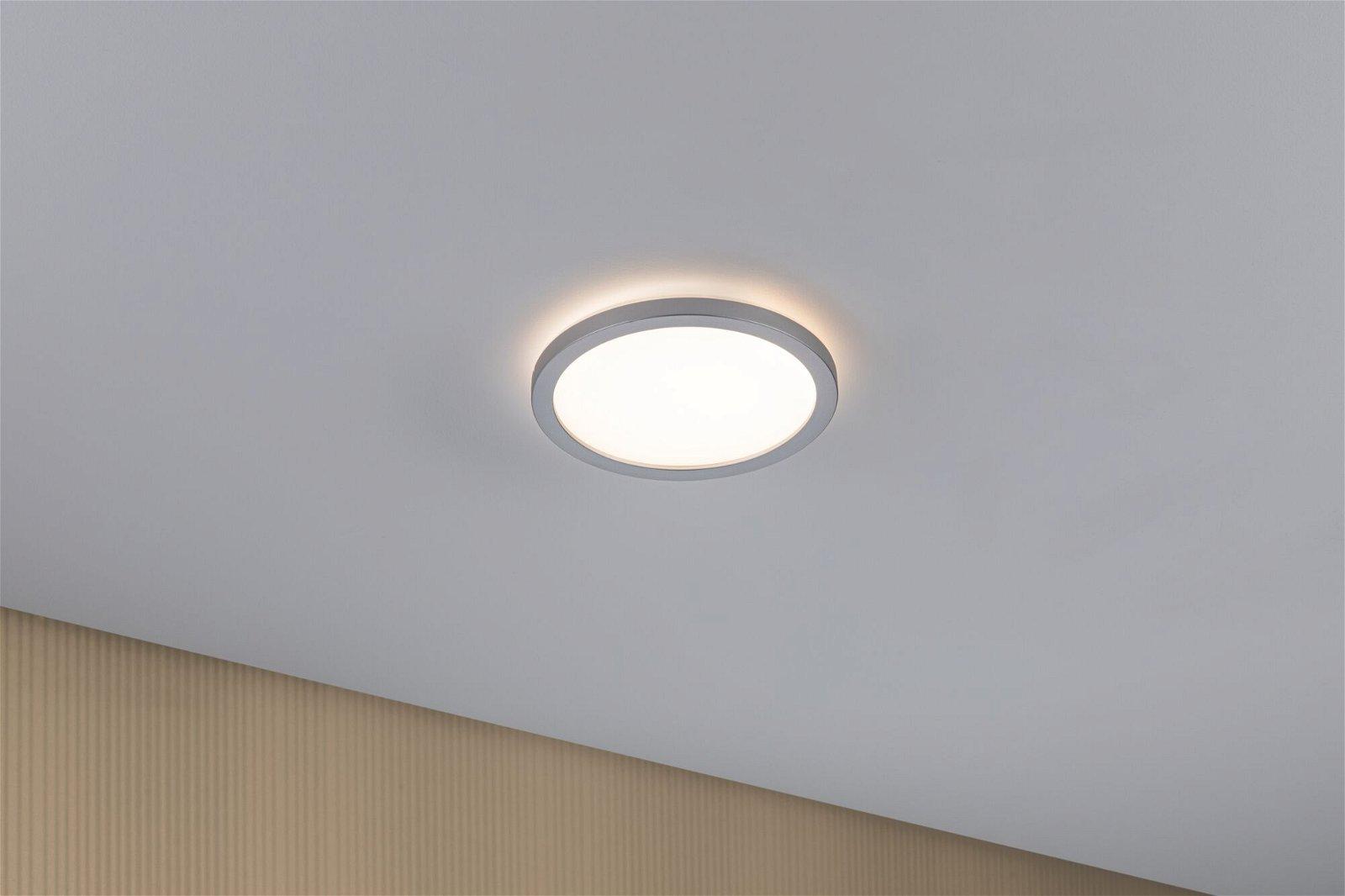 LED Panel Atria Shine rund 190mm 1340lm 3000K Chrom matt
