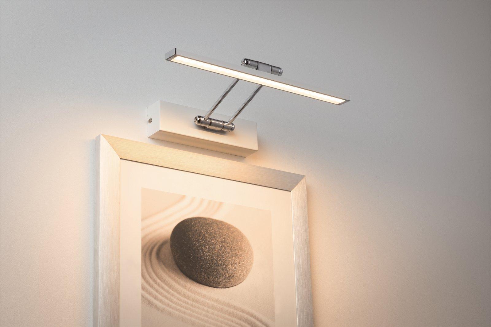 Galeria LED Bilderleuchte Beam 2700K 630lm 230V 5W Weiß/Chrom