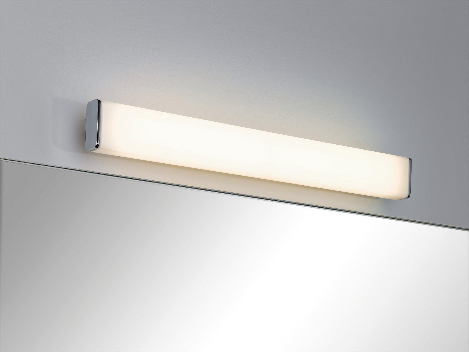 LED Wandleuchte Nembus IP44 3000K 600lm 230V 9W Chrom/Weiß