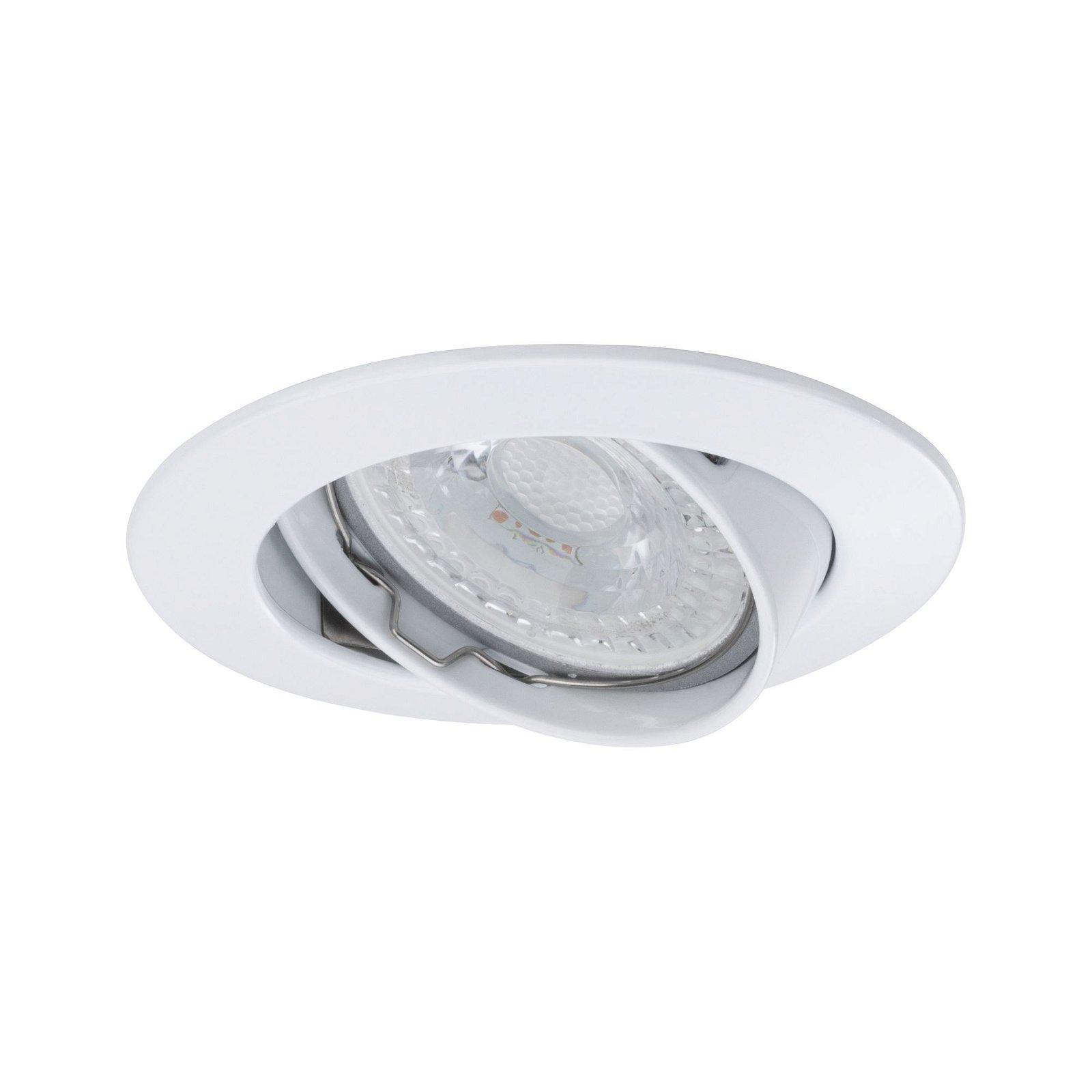 Premium LED Einbauleuchte schwenkbar rund 83mm 30° GU5,3 max. 50W 12V Weiß