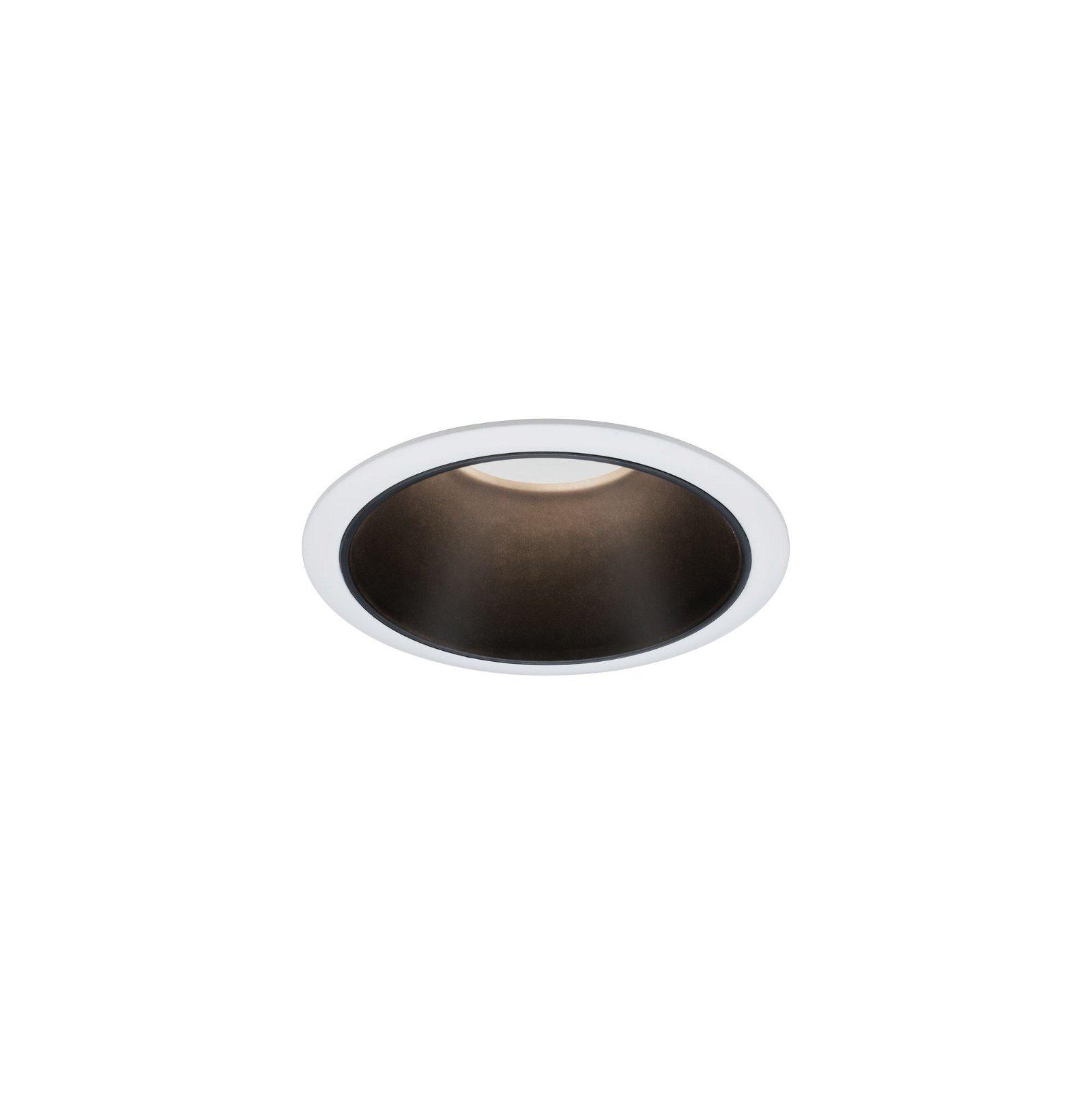 Spot encastré LED 3-Step-Dim Cole Coin Kit de base IP44 rond 88mm Coin 3x6,5W 3x460lm 230V 2700K Blanc/Noir mat