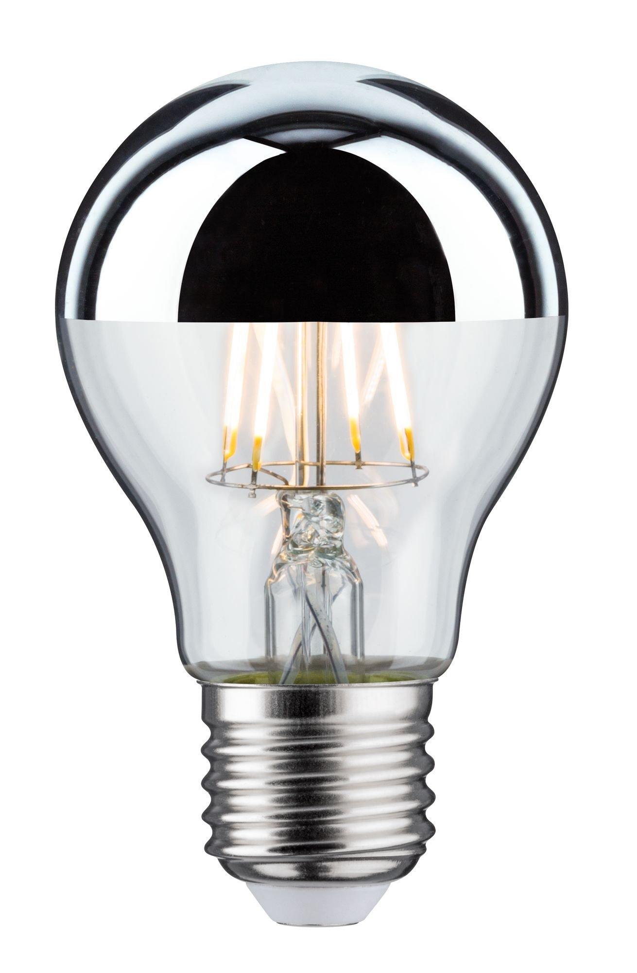 Modern Classic Edition LED-gloeilamp Kopspiegel E27 230V 600lm 6,5W 2700K Kopspiegel zilver