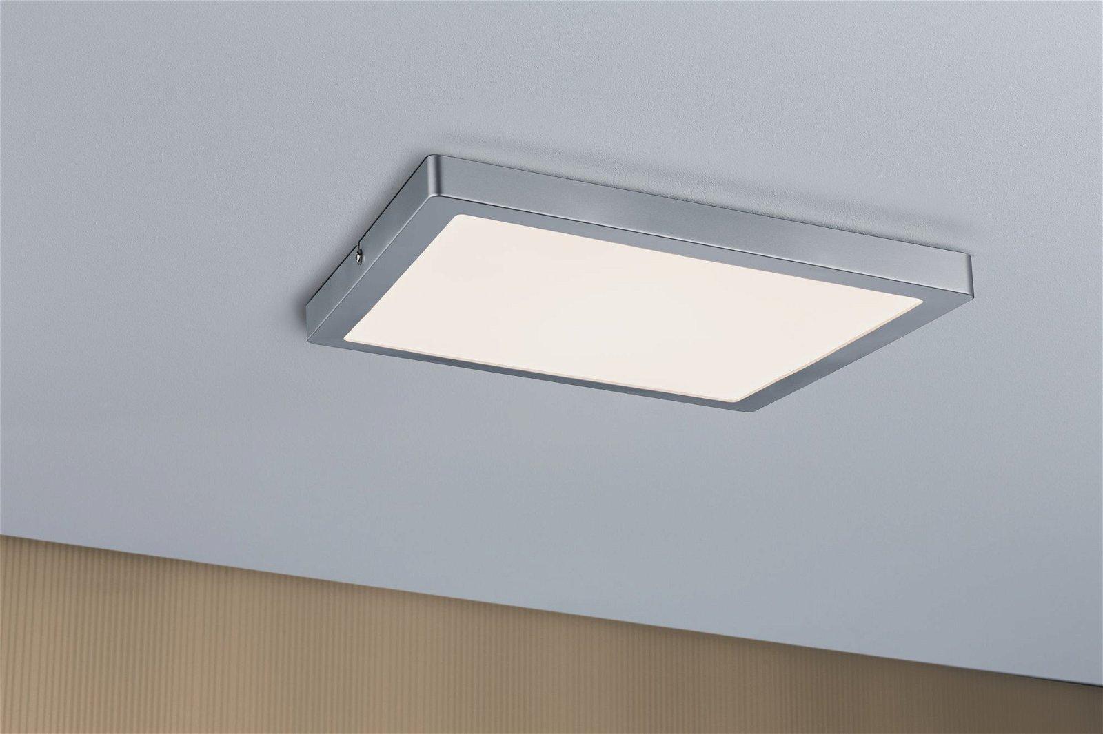 Panneau LED Atria carré 300x300mm 2700K Chrome mat