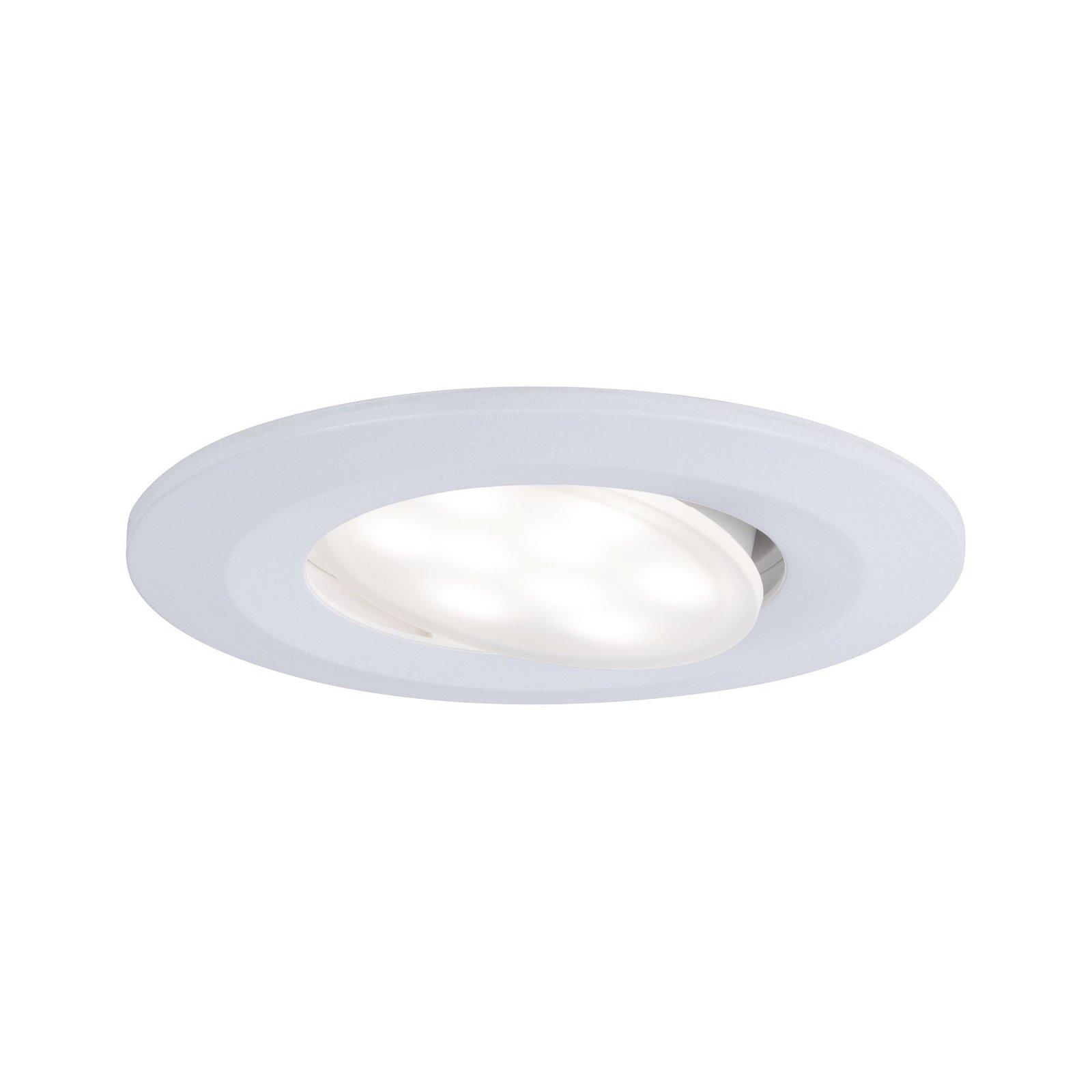 HomeSpa LED Einbauleuchte Calla Basisset schwenkbar IP65 rund 90mm 30° 3x5,5W 3x680lm 230V 4000K Weiß matt
