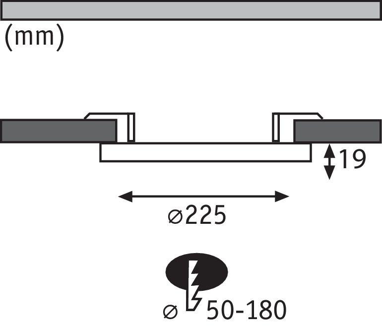 Panneaux encastrés LED 2in1 Cover-it rond 225mm 1800lm 4000K Blanc dépoli