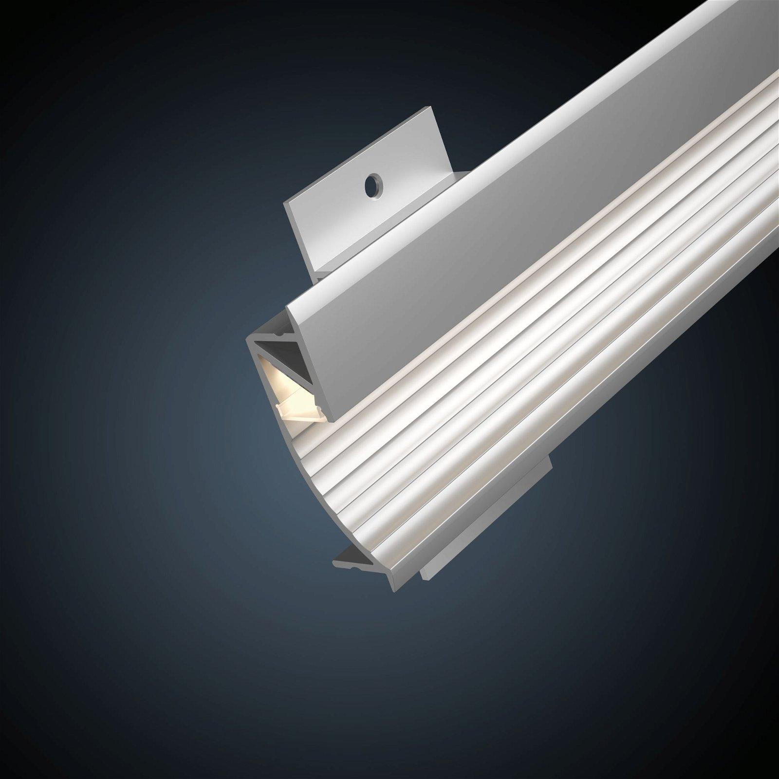 LED Strip Einbauprofil Cup 2m Alu eloxiert/Satin