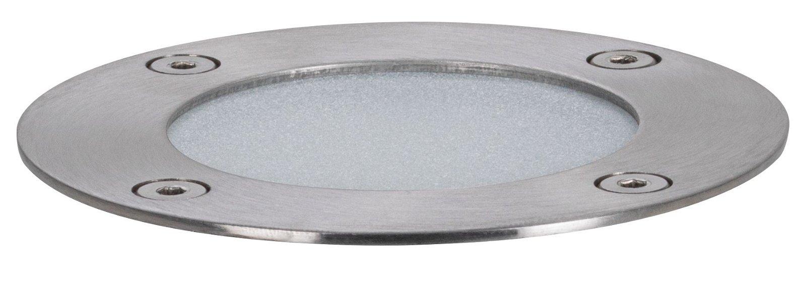Plug & Shine Encastré de sol LED RGBW Spot individuel IP65 RGBW 3,6W Argent